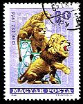 PERFORMING LIONS ON STAMPS