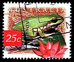 Frogs on stamps